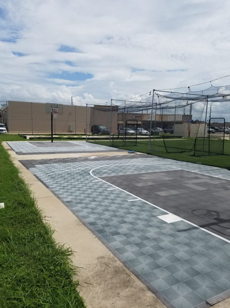 Attached Outdoor Area (Basketball court, Sandpit, Batting Cages, and roughly 1,500 sq feet of open turf)