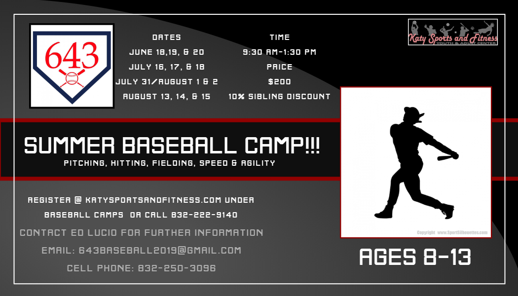 643 SUMMER BASEBALL CAMP - Made with PosterMyWall